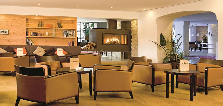 Hotel Bon Alpina, Igls, Austria - Lounge area with open fire place.jpg